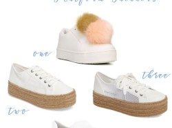 Platform Sneakers // www.polishedclosets.com