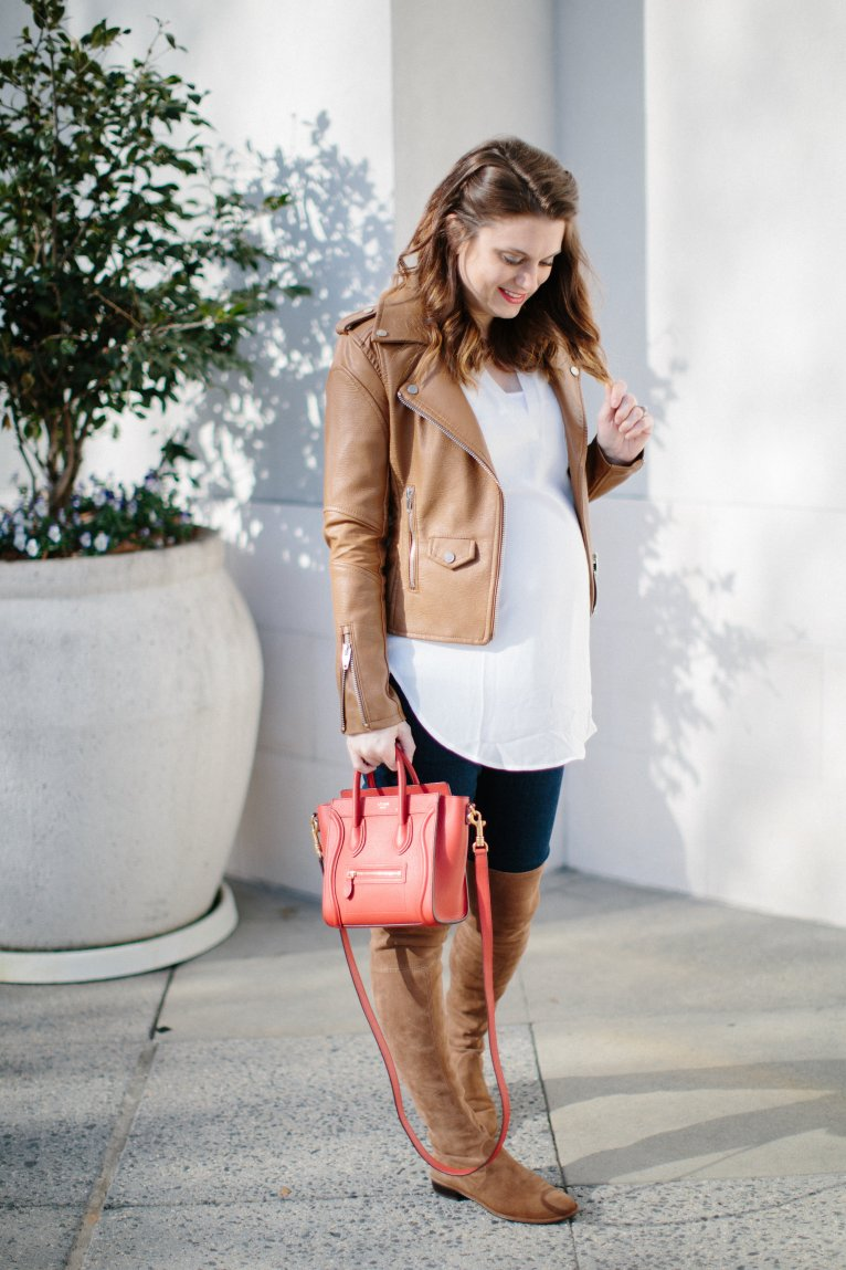 Over the Knee Boots Outfit by fashion blogger Maggie from Polished Closets