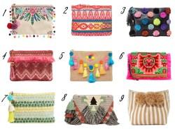 boho clutch bags // www.polishedclosets.com