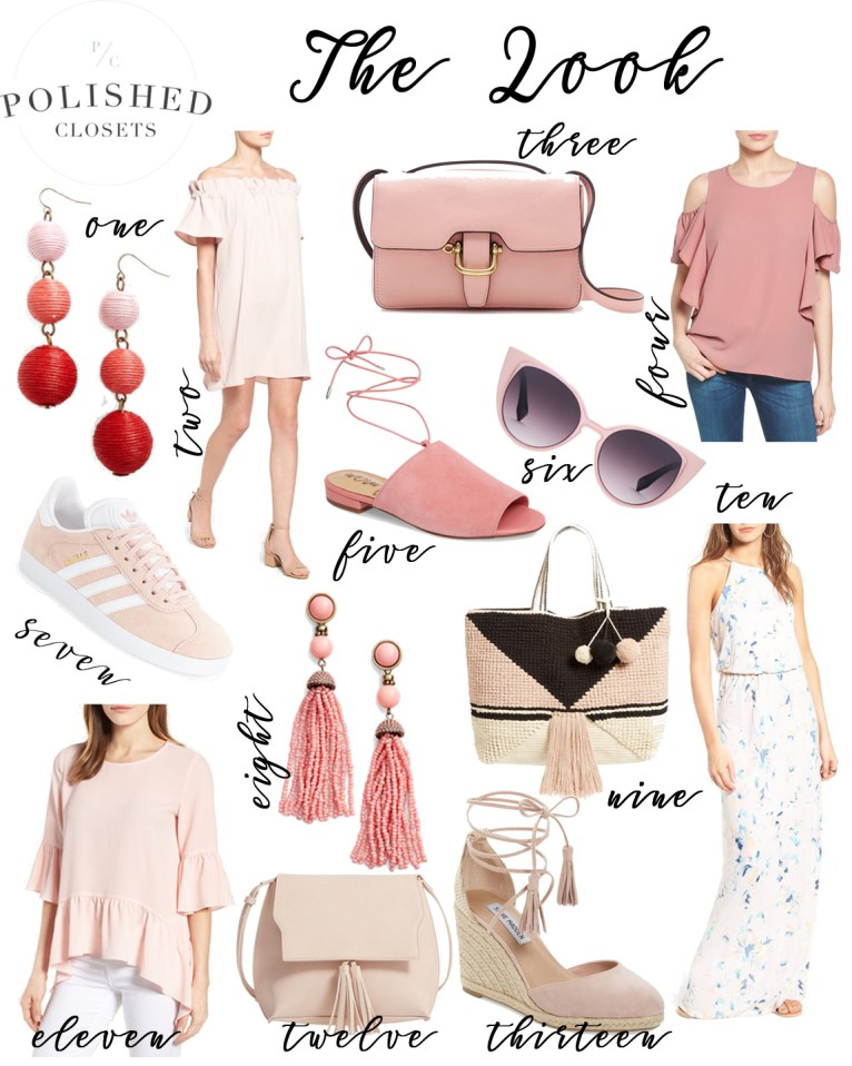 The Look: Staples For Your Blush Outfits by fashion blogger Maggie of Polished Closets