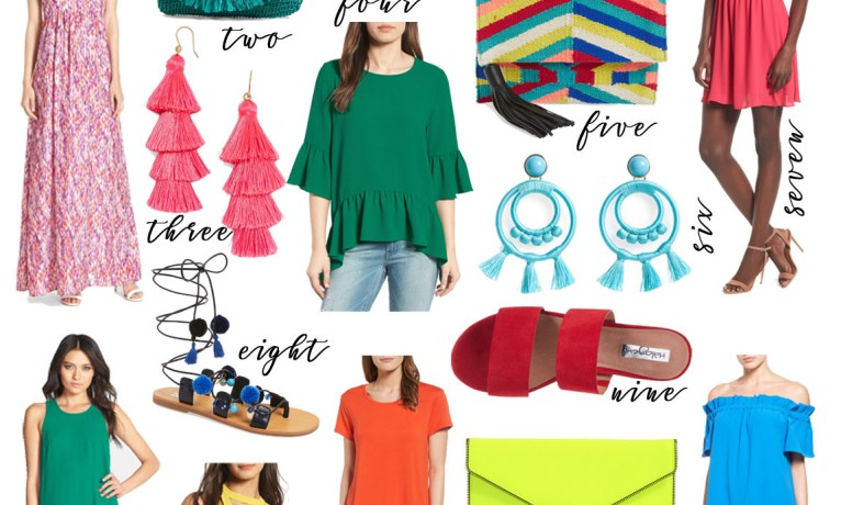 Pick of the Week: Bright Colors & Colorful Clothing {and Memorial Day Sales!}