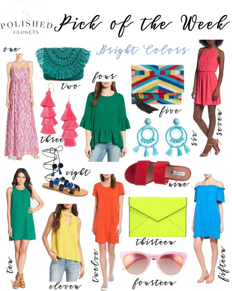 Pick of the Week: Bright Colors & Colorful Clothing by fashion blogger Maggie of Polished Closets