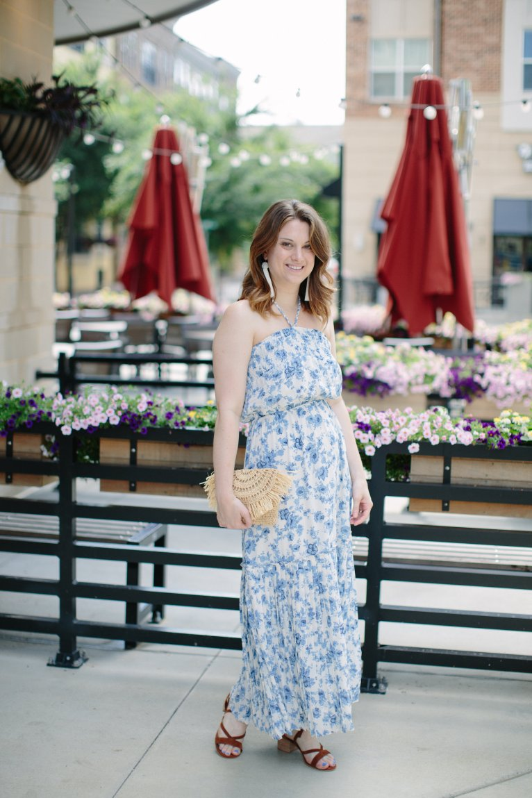 Summer Floral Dress by fashion blogger Maggie of Polished Closets
