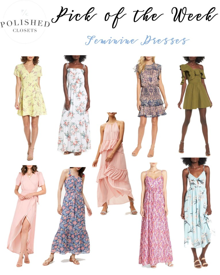 Feminine Dresses for Summer by Fashion Blogger Maggie of Polished Closets | Click through to read more!