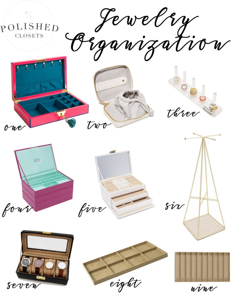 Stylish Jewelry Box: Ultimate Jewelry Organizer Ideas by fashion blogger Maggie of Polished Closets