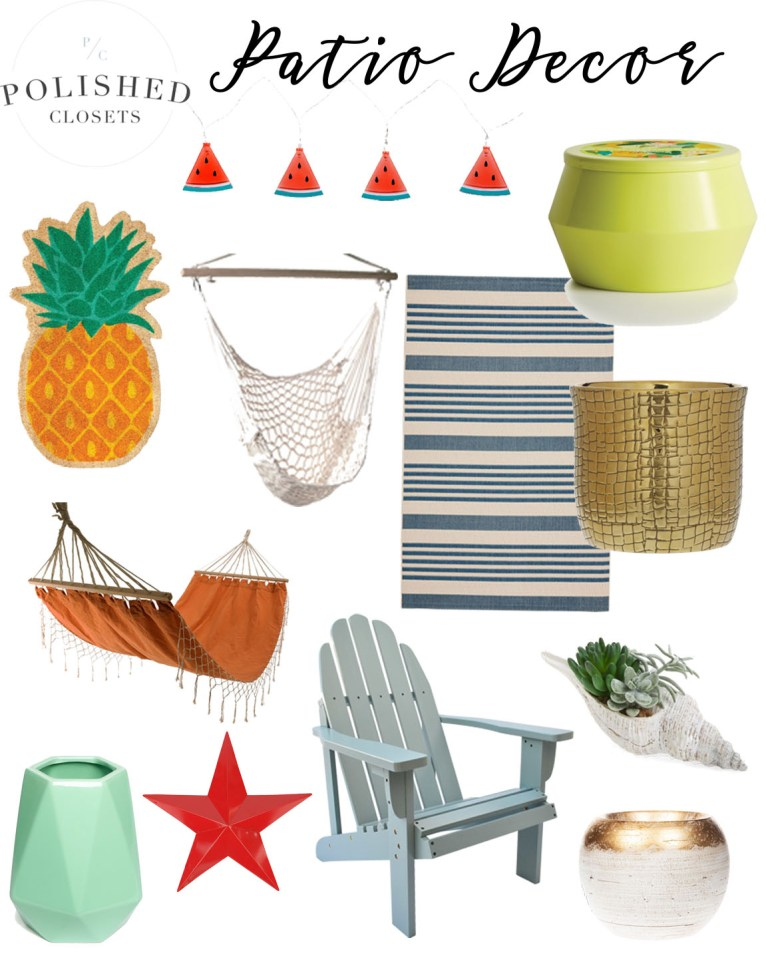 How to Create an Outdoor Patio Oasis: Outdoor Patio Decor Inspiration by lifestyle blogger Maggie of Polished Closets