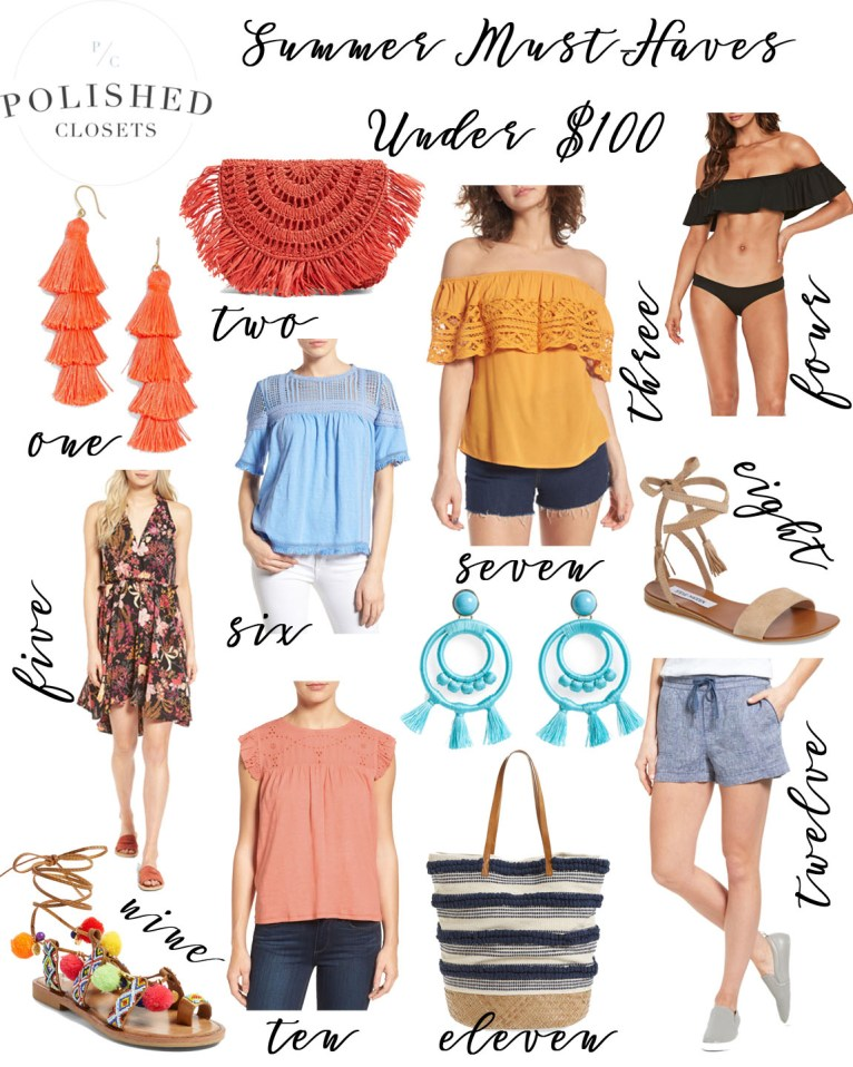 Summer Must-Haves Under $100 by fashion blogger Maggie of Polished Closets