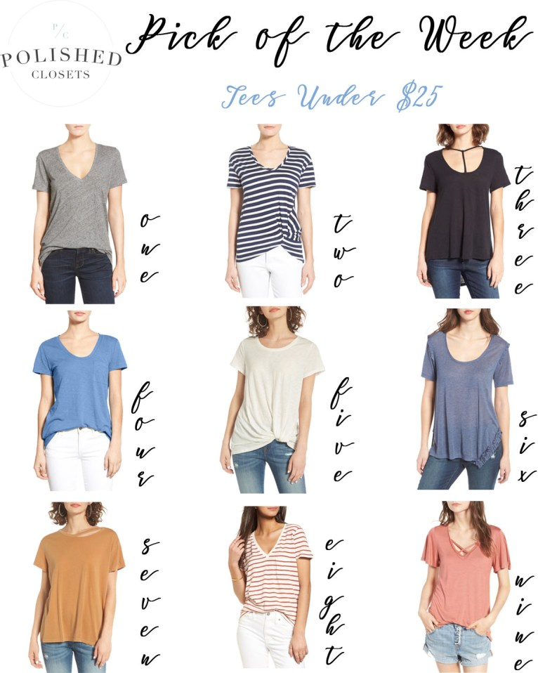 Pick of the Week: Cute & Cheap Tees Under $30 by fashion blogger Maggie of Polished Closets