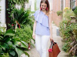 How to Style a Gingham Top for Summer by Fashion Blogger Maggie of Polished Closets