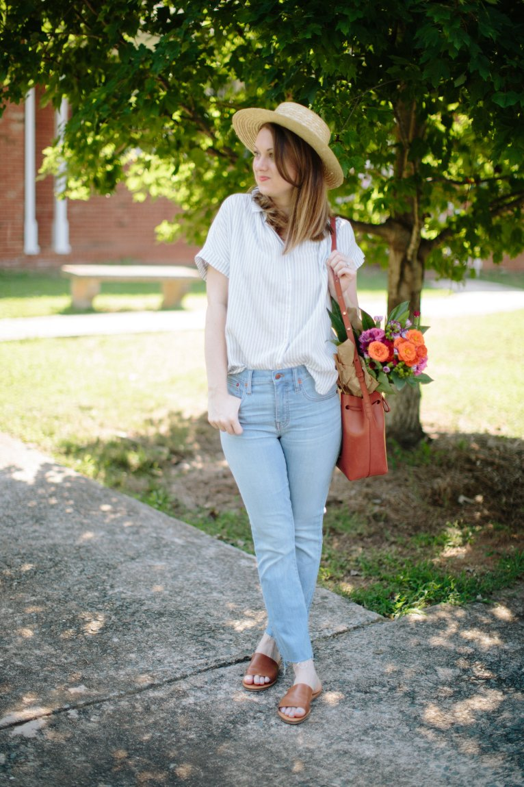 The Perfect High Waist Jeans Styled by Fashion Blogger Maggie Kern of Polished Closets