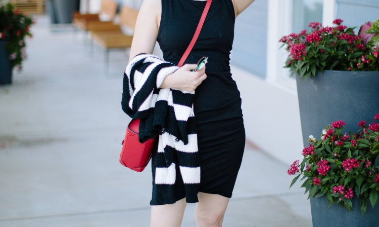 A Casual Black Dress for the End of Summer