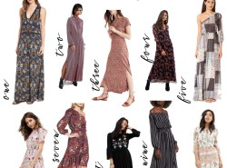 Fall Maxi Dresses Under $100 Curated by Fashion and Lifestyle Blogger Maggie Kern of Polished Closets