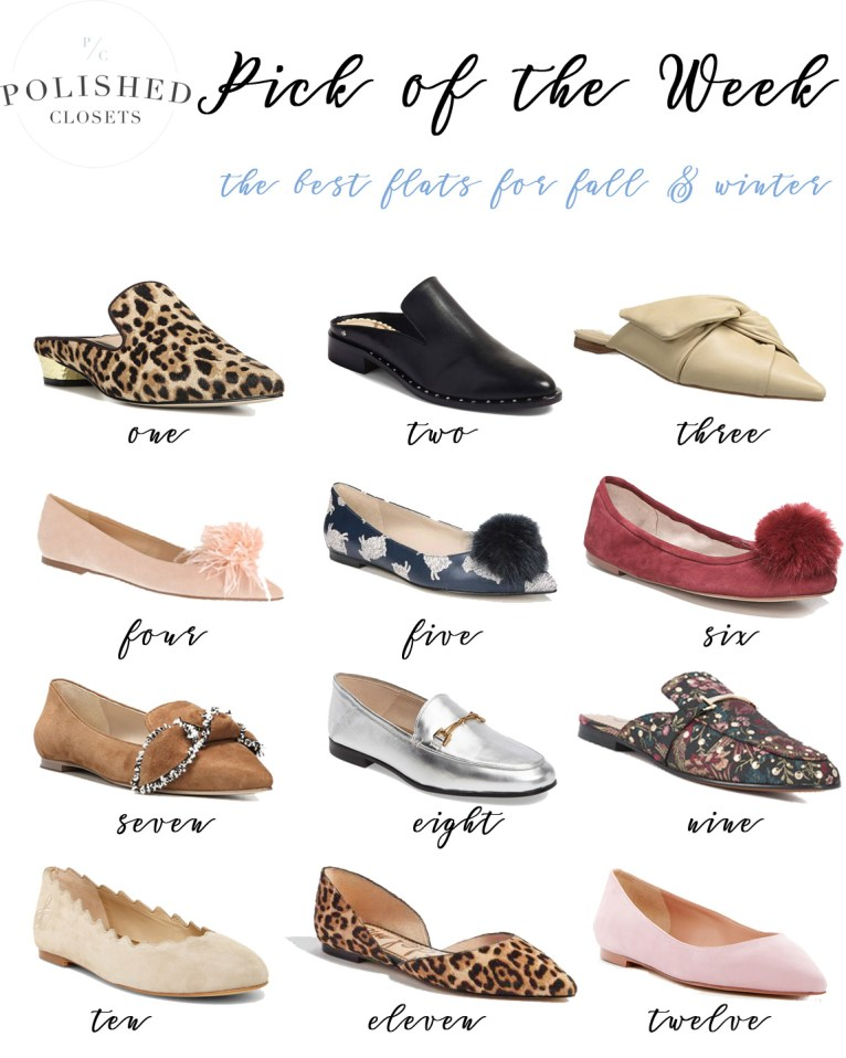 The best flats for fall and winter by fashion blogger Maggie Kern of Polished Closets.