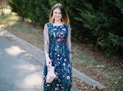 A gorgeous holiday maxi dress from Versona for the holidays by fashion and lifestyle blogger Maggie Kern of Polished Closets.