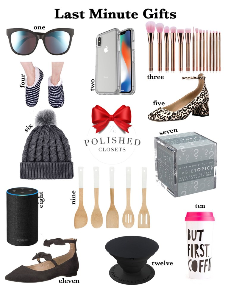 Last Minute Gifts for the Procrastinator by Fashion and Lifestyle Blogger Maggie Kern of Polished Closets.