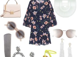 How to wear a floral dress now and later - for cold and warm temps!