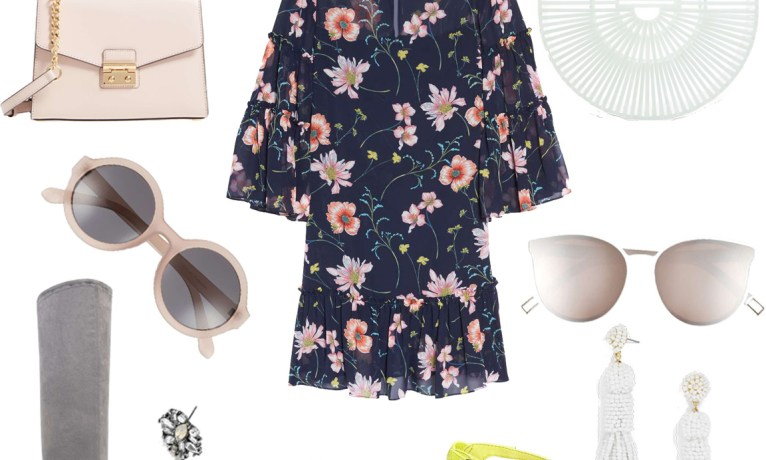 A Short Floral Dress for Now & Later // One Piece, Two Ways