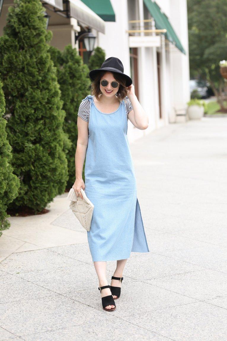 c201a7b81c8b1 How to Wear a Shirt Under a Dress this Summer - Polished Closets