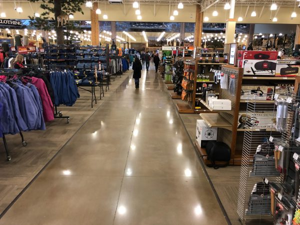 Cabela's Retail Store With Polished Concrete Floors