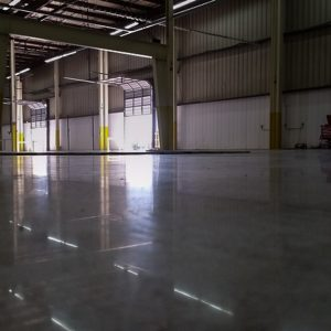 Highly Reflective Polished Concrete Warehouse