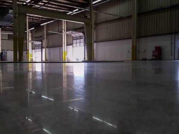Highly Reflective Polished Concrete Warehouse