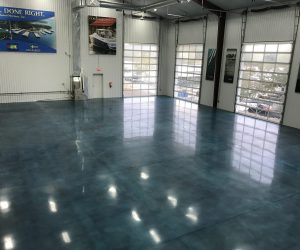 Stained/Dyed Polished Concrete