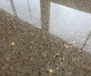 Exposed Aggregate Polished Concrete