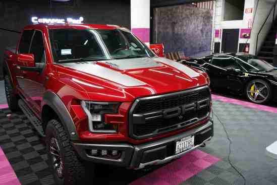 This Ford Raptor is getting a paint correction detail in our Long Beach California shop