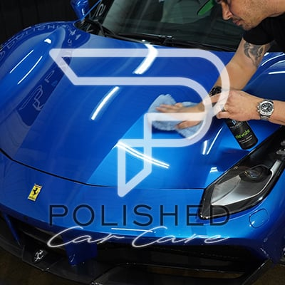 Polished car care ceramic coating spray detailer products