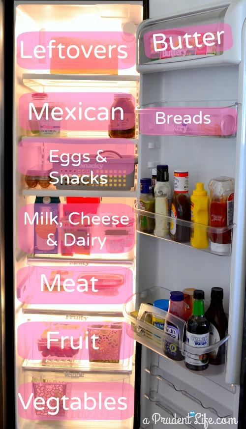 Organized & Labeled Fridge