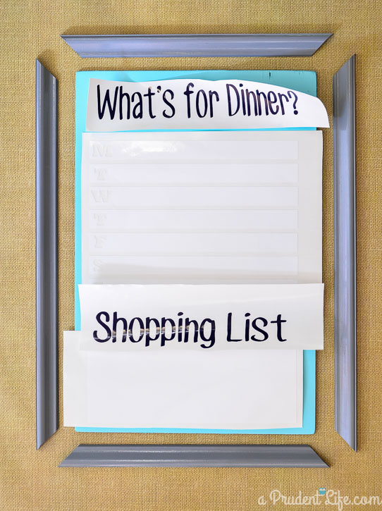 Dry Erase Vinyl is Perfect for a Menu Board