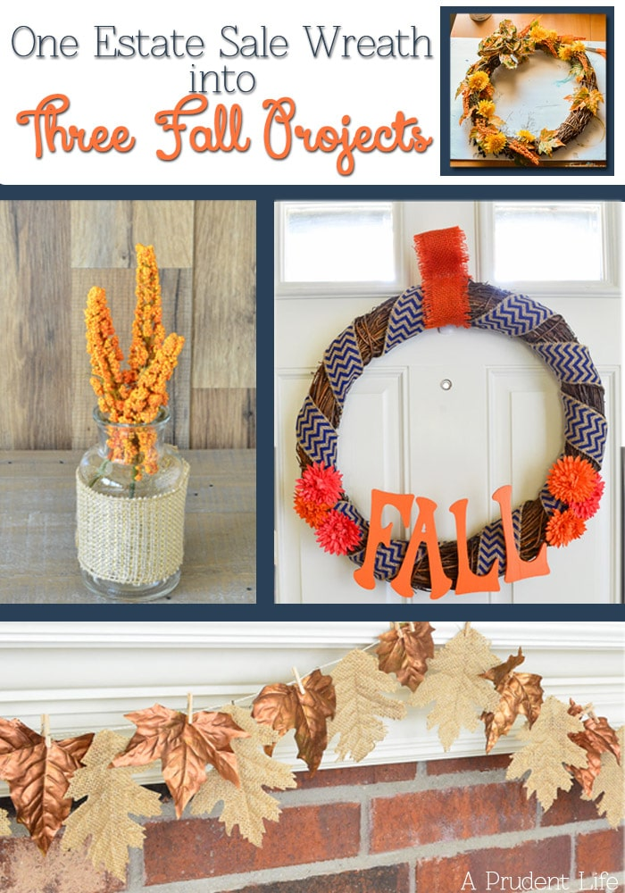 I can't believe I turned one outdated wreath into three modern fall projects