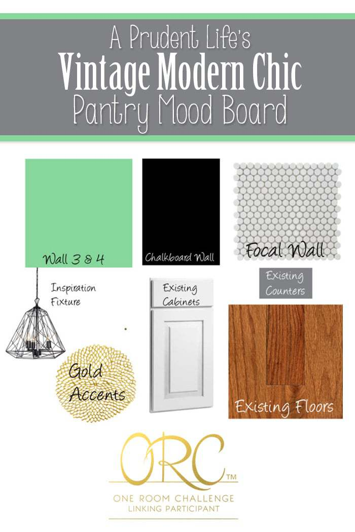 A Prudent Life's One Room Challenge Pantry Mood Board