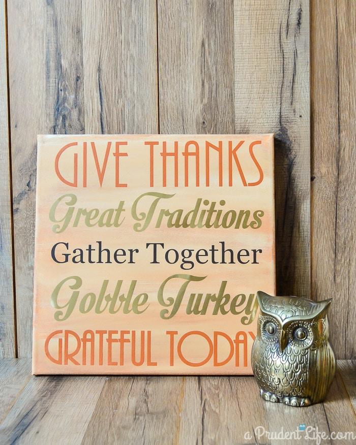 Thanksgiving DIY Mantel Art
