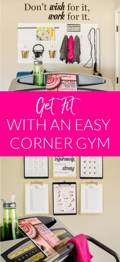 Putting together a home gym may be easier that you think. We created a simple exercise corner that has everything we need to stay in shape.