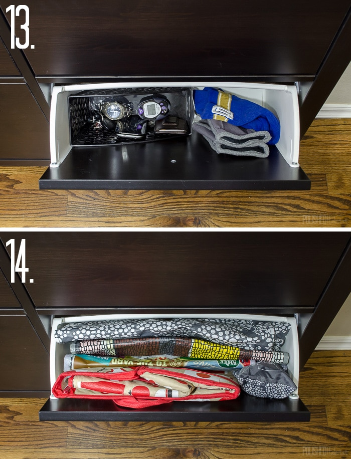 Get your house organized with the help of an IKEA HEMNES shoe organizer. This post has FOURTEEN unique ideas of thing you can store in them.