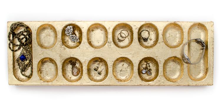Faux Antique Gold Finish - Jewelry Organization-6