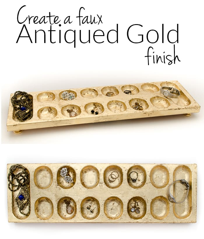 Giving a new item an antique gold finish is easier than you may think!