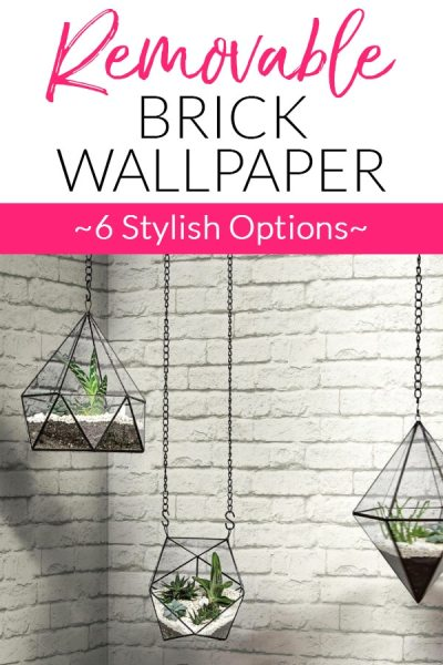 6 Options for Removable Brick Wallpaper