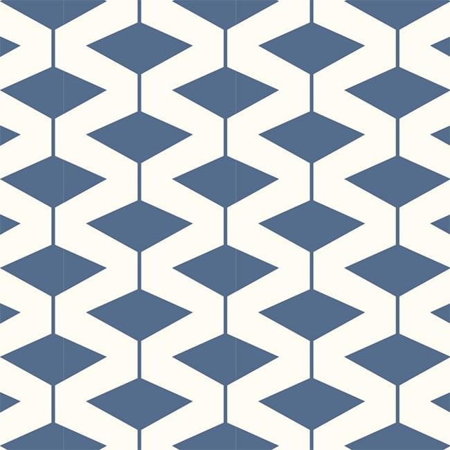 Modern Navy Diamond Wallpaper