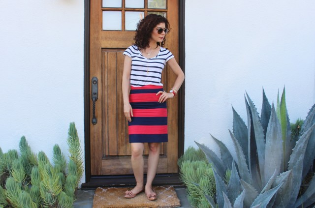 pattern mixing: stripes on stripes, double stripes