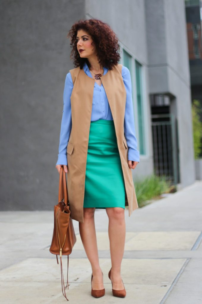 color blocking and j crew catalog inspired outfit