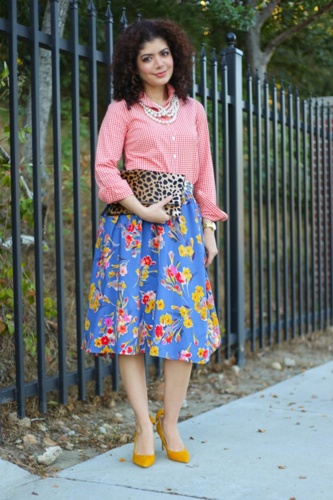 Fall florals and leopard print
