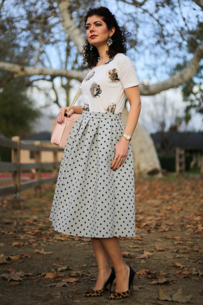 triple pattern mix and winter florals by polished whimsy