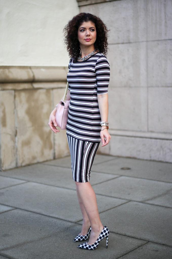 polished whimsy in lu la roe striped julia