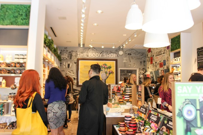 The grand opening of The Body Shop in Santa Monica