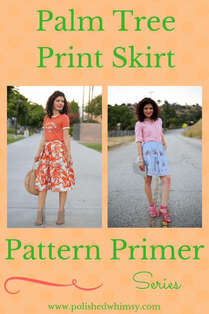 Styling a palm tree print skirt two ways