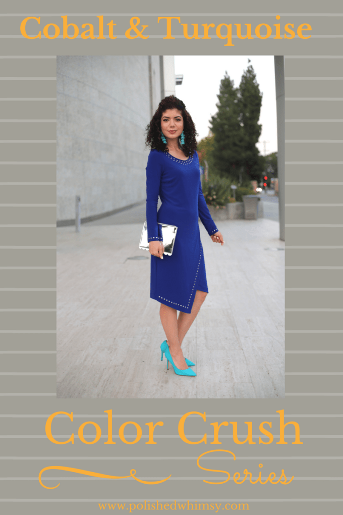 How to wear Cobalt and turquoise outfit