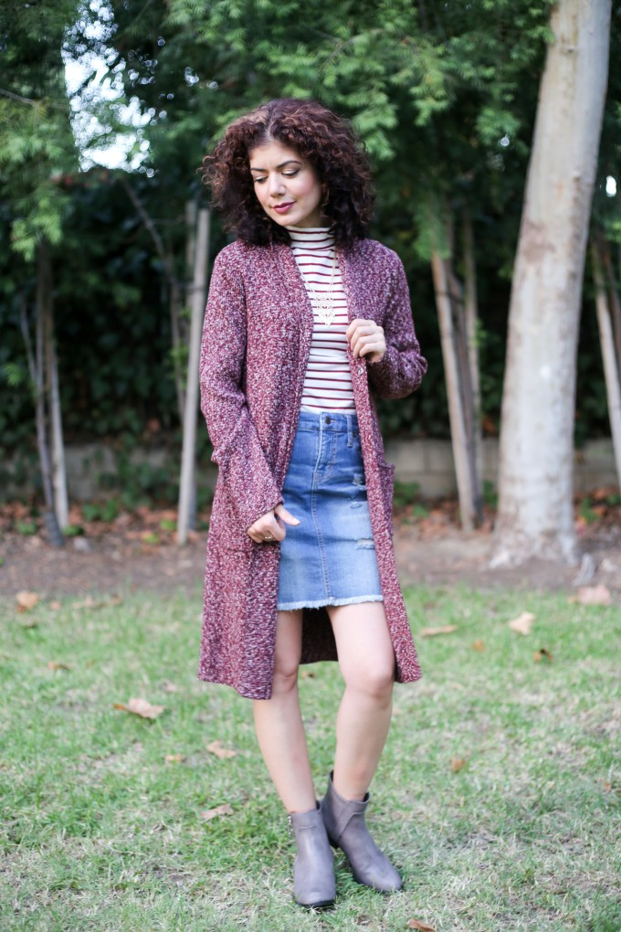 Styling a Duster Cardigan Outfit for Work and Play