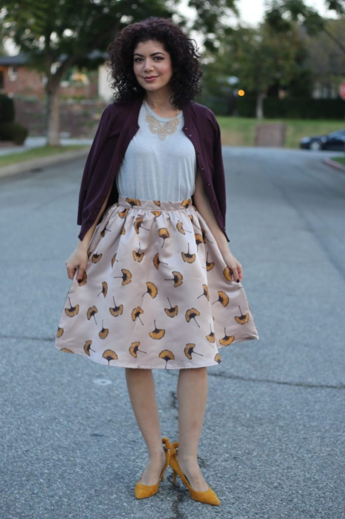 Styling a floral skirt for fall  how to make it look season appropriate  dd329f2a7